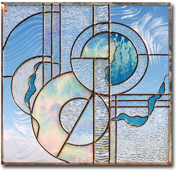 Glass rainbows custom designed stained glass by artist for Contemporary stained glass